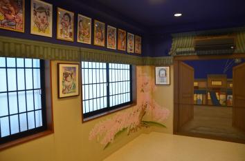 桜と障子、ディテール、カリカチュアジャパン、浅草のスタジオ、東京 cherry blossom and sliding screen detail - Caricature Japan, asakusa studio - asakusa, tokyo