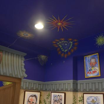 hanabi ceiling detail - Caricature Japan, asakusa studio - asakusa, tokyo