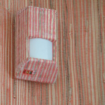 motion sensor painted to match wallpaper - private residence - lincoln, ma