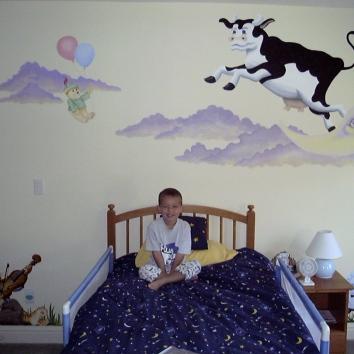 マザーグースのテーマの壁画、米国のリンカーン mother goose theme mural – lincoln, ma