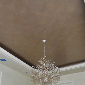 metallic ragged glaze finish ceiling - private residence - wellesley, ma