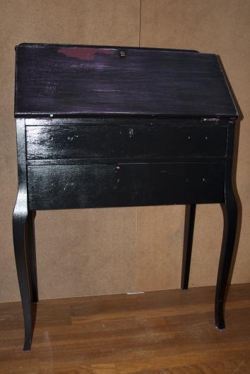 same writing desk prior to refinishing