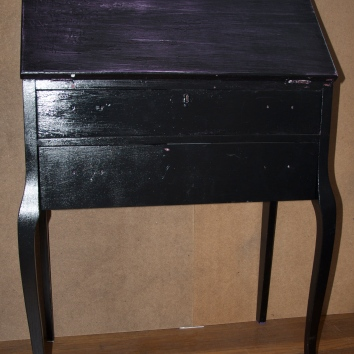 same writing desk prior to refinishing