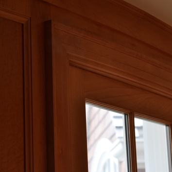 faux bois window sash to match genuine maple moulding - private residence - chatham, ma