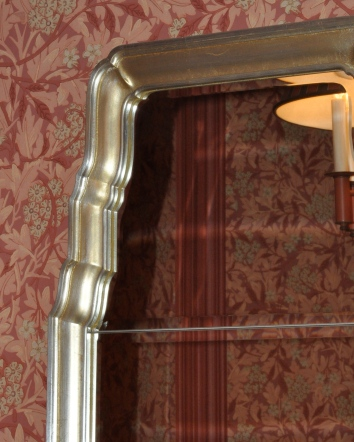 silver gilt mirror frame - private residence - newton, ma