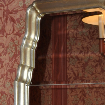 silver gilt mirror frame - private residence - newton, ma