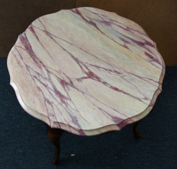 faux marbre coffee table - private residence - cambridge, ma