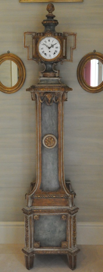 refinished antique clock - private residence - needham, ma