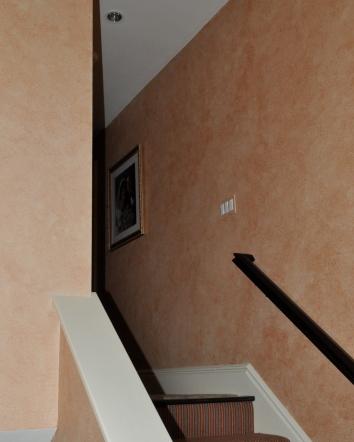 hallway wall glaze - wellesley, ma