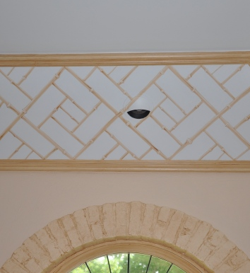 bamboo ceiling border detail - private residence - weston, ma