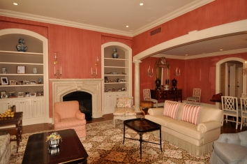 living room wall glaze - strié - boston, ma