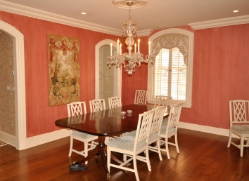living room/dining room wall glaze - boston, ma