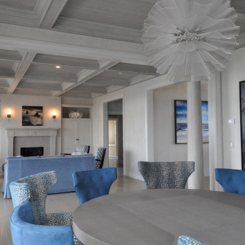 subtle strie on ceiling woodwork - private residence - yarmouth, ma