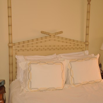 painted and glazed faux bamboo headboard - private residence - boston, ma