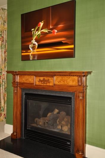 linen glaze on master bedroom walls - private residence - boston, ma