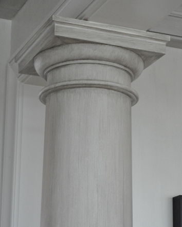 driftwood finish faux bois column - private residence - yarmouth, ma