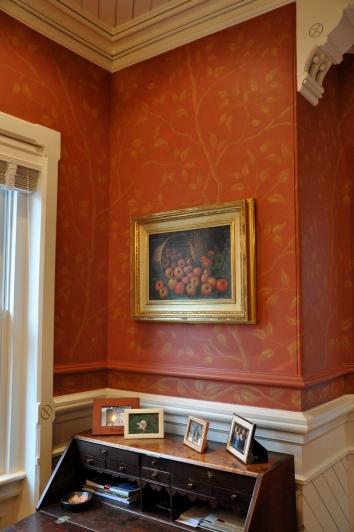 ダイニングの壁画、米国のボストン dining room wall mural - boston, ma