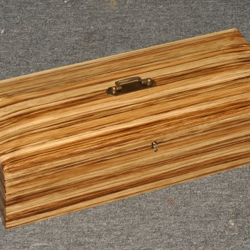 faux bois zebrawood keepsake box - private residence - chatham, ma