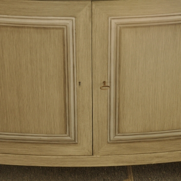 trompe l'oeil moulding on cabinet doors - private residence - boston, ma