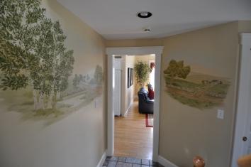 農村のテーマの壁画、米国のボックスフォードcountry landscape theme mural – boxford, ma
