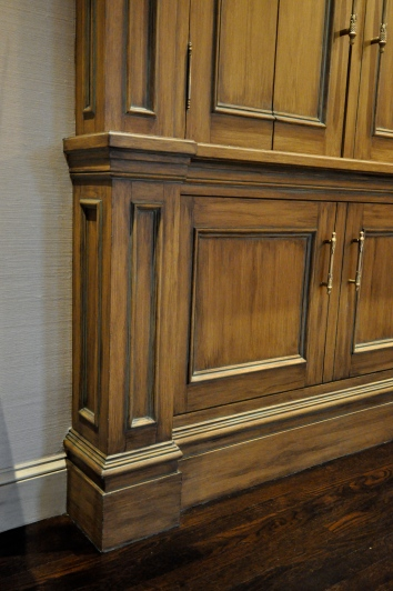 faux bois and antiqued built-in cabinet - private residence - boston, ma