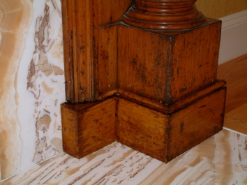 faux bois addition to genuine wood antique mantel - private residence - wellesley, ma