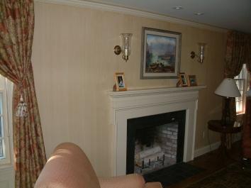 living room wall glaze - wellesley, ma