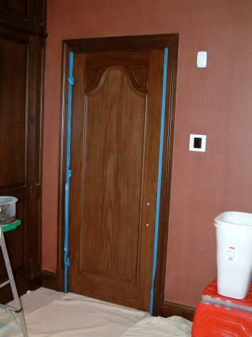 same door in mid-process - private residence - brookline, ma