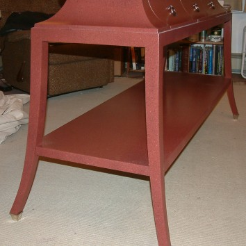 flyspeck finish console table - private residence - needham, ma