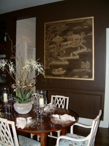 chinoiserie painting - private residence - boston, ma