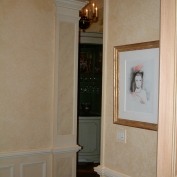 faux marbre pilaster panels - private residence - boston, ma
