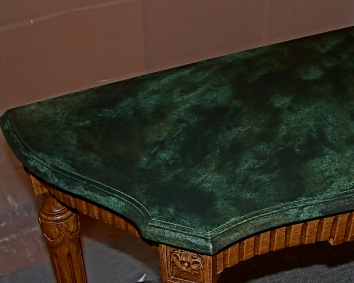 faux marbre table top - private residence - boston, ma