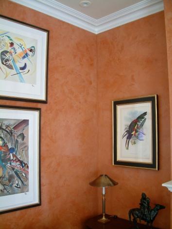 living room venetian plaster - boston, ma