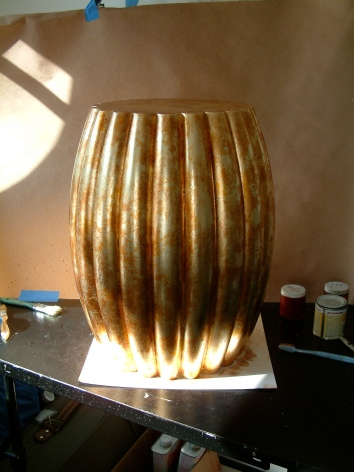gilt barrel table version 1 - private residence - easton, ma