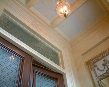 faux marbre foyer paneling and moulding - private residence - boston, ma