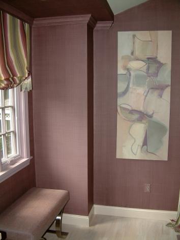 dining room wall glaze - easton, ma