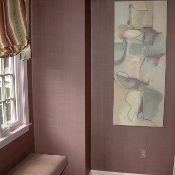 dining room wall glaze - easton, ma