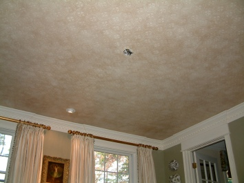 antique patterned celing - weston, ma