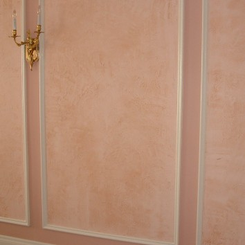 wall panels – painted and glazed stucco – jamaica plain, ma