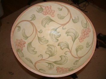 painted bowl - private residence - wellesley, ma