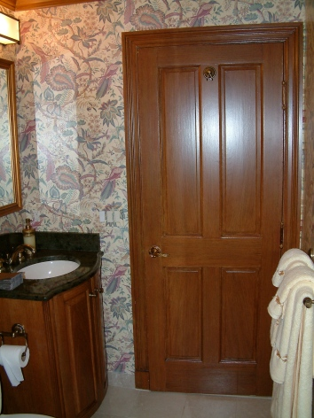 faux bois door and moulding - private residence - boston, ma