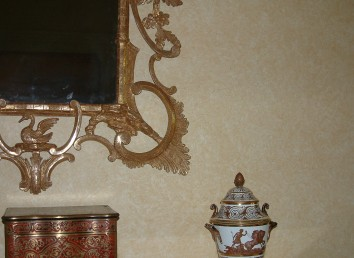 living room wall glaze (detail) - boston, ma