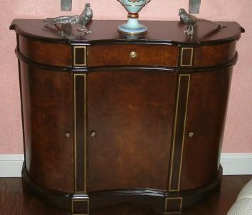 faux bois and gilt liquor cabinet - private residence - carlisle, ma