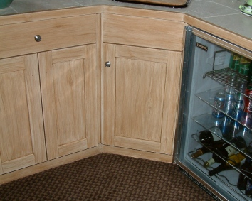 faux bois cabinets- private residence - westwood, ma