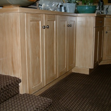 faux bois cabinets - private residence - westwood, ma