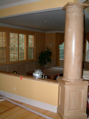 faux bois column - private residence - westwood, ma