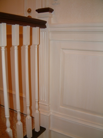 subtle strie on woodwork and paneling - private residence - boston, ma