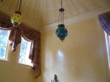 entry hall walls – venetian plaster – brookline, ma