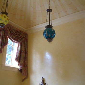 entry hall walls – venetian plaster – brookline, ma