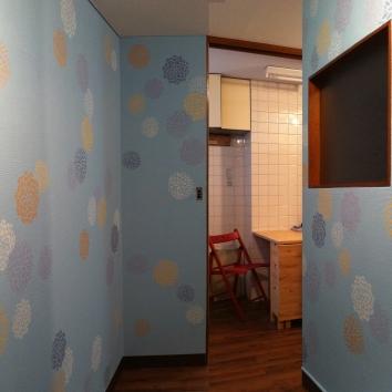花の刷り込み、渋谷区 random flower stencil - private residence - tokyo